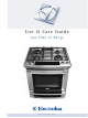 Electrolux GAS RANGE Use & Care Manual