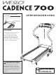 Weslo Cadence 700 Treadmill Manual