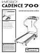 Weslo Cadence 700 Treadmill Manual