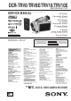 Sony DCR-TRV8 Service Manual