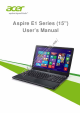 Acer Aspire E1 Series User Manual