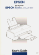 EPSON Stylus COLOR 600 User Manual