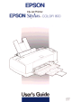 EPSON Stylus COLOR 800 User Manual