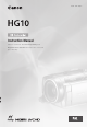 CANON HG10 Instruction Manual