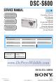 Sony DSC-S600 Service Manual