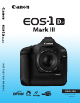 CANON EOS 1Ds Mark III Instruction Manual