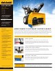 Cub Cadet 524 WE Specifications
