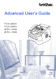 Brother FAX-2940 Advanced User's Manual