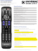 Universal Remote Control URC-A6 Specifications