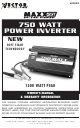vector 750 watt power inverter manuals manuals and user guides for vector 750 watt power inverter we have 1 vector 750 watt power inverter manual available for pdf owner s manual