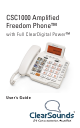 ClearSounds Freedom Phone CSC1000 User Manual