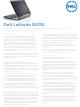 Dell Latitude E6330 Specifications
