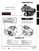 HONDA GCV160 Owner's Manual