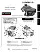 HONDA GCV160 Owner's Manual