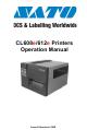 Sato CL608e Operation Manual