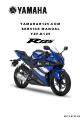 Yamaha YZF-R125 Service Manual