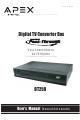 Apex Digital DT250 User's  Manual