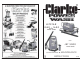 Clarke JETSTAR 1550 Operating & Maintenance Manual