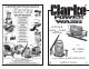 Clarke JETSTAR 1550 Operating & Maintenance Manual