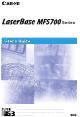 CANON LASERBASE MF5700 Series User Manual