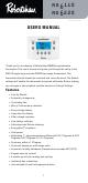 Robertshaw RS6110 User Manual