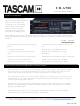 Tascam CD-A700 Technical Documentation