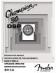 Fender 30 DSP Owner's Manual