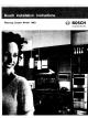 Bosch HWD Installation Instructions Manual