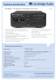 Cambridge Audio DacMagic 100 Technical Specifications