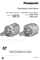 PANASONIC SDR-H101 Operating Instructions Manual