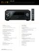 Pioneer VSX-43 Information Sheet