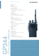 Motorola GP344 Specification Sheet