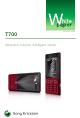 Sony Ericsson T700 White Paper