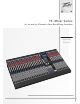 Peavey FX Mixer Series Operating Manual