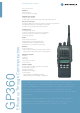 Motorola GP360 Specification Sheet