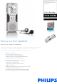 philips Voice Tracer LFH0884 Specifications