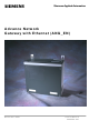 Siemens Advance Network Gateway User Manual