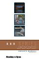 Sundance Spas 880 Series Owner's Manual