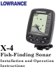 Lowrance X-4 Operation Installation And Operation Instructions Manual