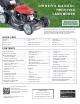 Honda Automobiles HRX217VKA Owner's Manual