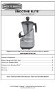 back to basics smoothie elite manuals rh manualslib com Smoothie Pro Smoothie Elite Blender Parts