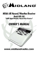 Midland WR-100 Owner's Manual