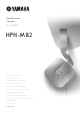 Yamaha Casque HPH-M82 Owner's Manual