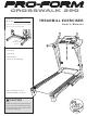 Proform CROSSWALK 390 User Manual