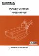 Honda HP350 Owner's Manual