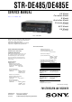 Sony STR-DE485 Service Manual