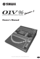 Yamaha O1V96 Owner's Manual