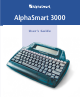 Alphasmart 3000 User's Manual
