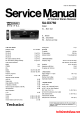 Technics SA-DX750 Service Manual