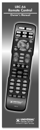 Universal Remote Control URC-A6 Owner's Manual